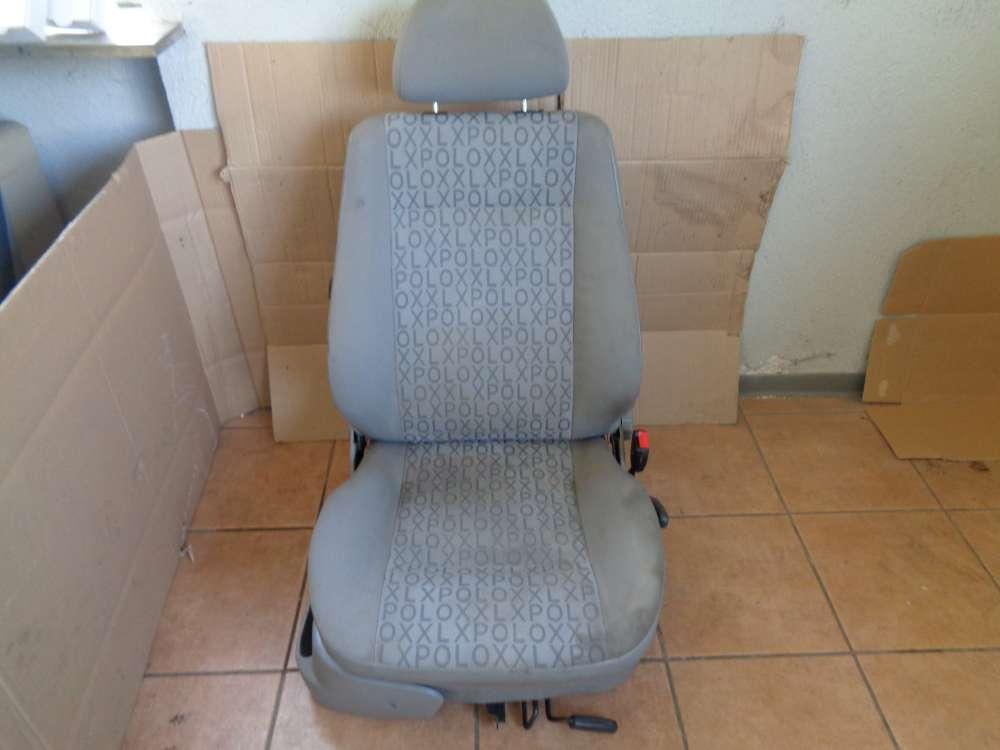 VW Polo 6N Sitz Beifahrersitz Vorne Rechts grau Stoff