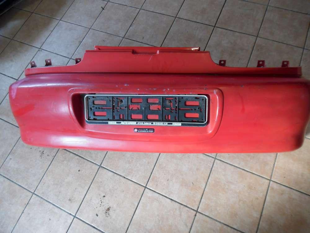 Mazda MX-3 Stoßstange Stoßfänger Hinten Rot