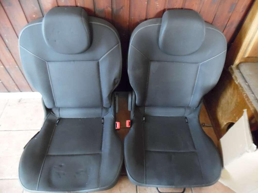 Renault Twingo II Sitze Rücksitzbank Stoff grau