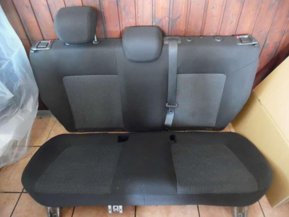 Opel Corsa D Sitze Rücksitzbank Stoff grau