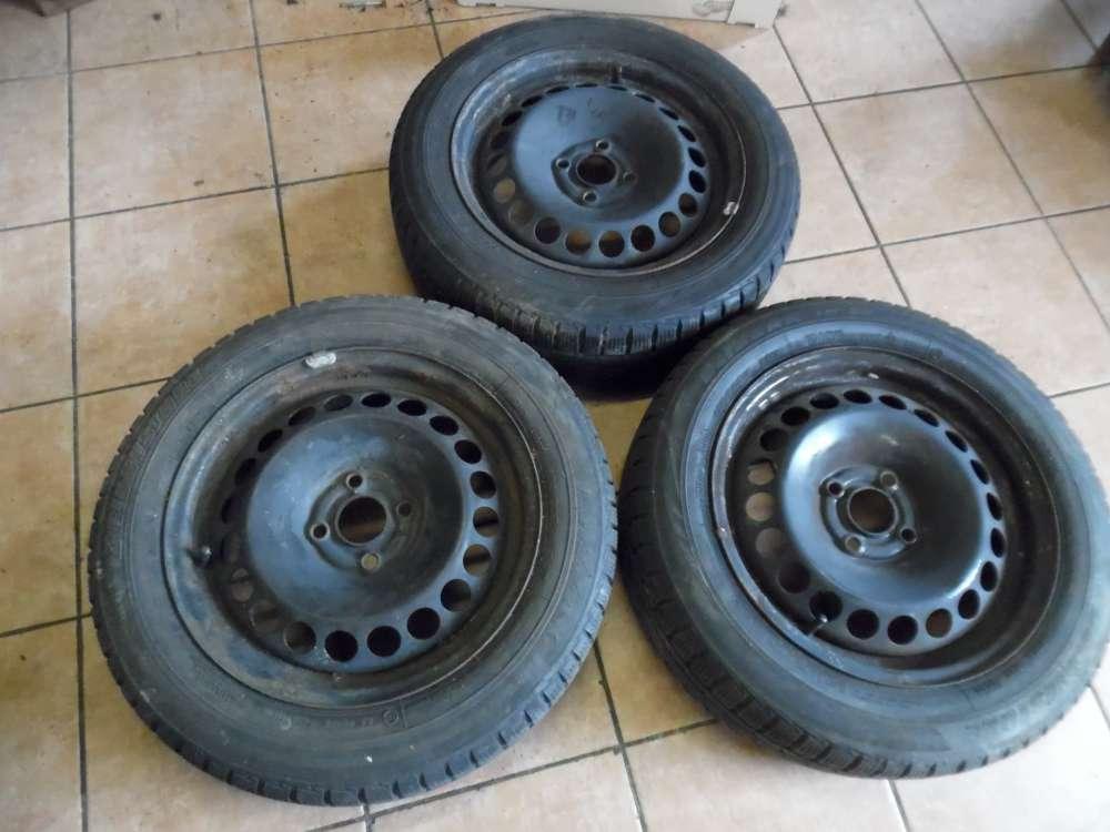 3 X Stahlfelgen mit Reifen Winterreifen für Opel Corsa D 185/60 R15 88T  M+S  6Jx15H2 ET39