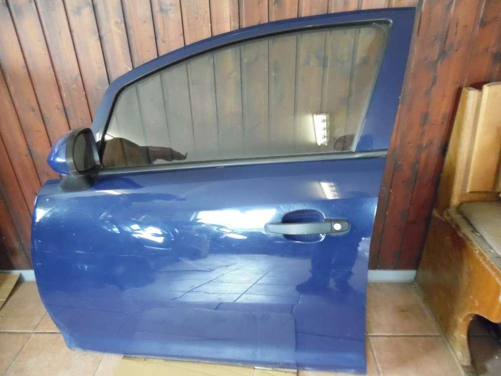 Opel Corsa D Tür Vorne Links Blau Farbcod : Y20Z