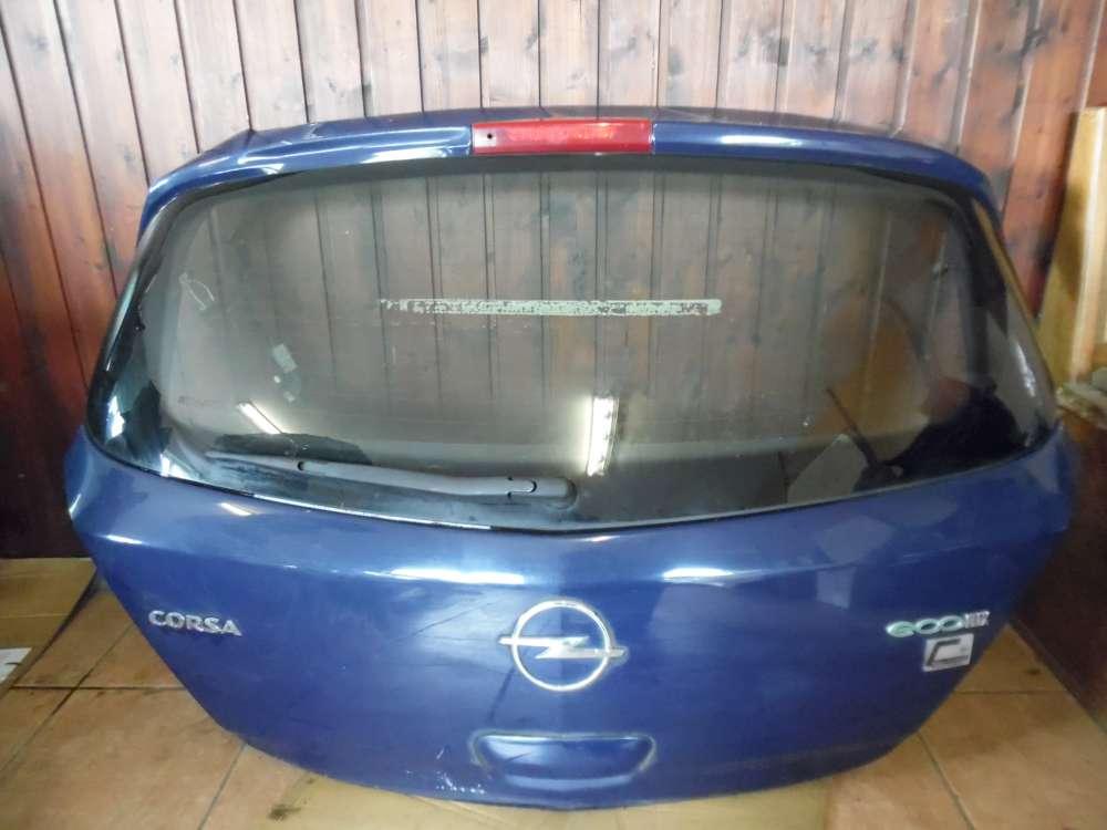 Opel Corsa D Heckklappe Kofferraumdeckel Blau Farbcod : Y20Z