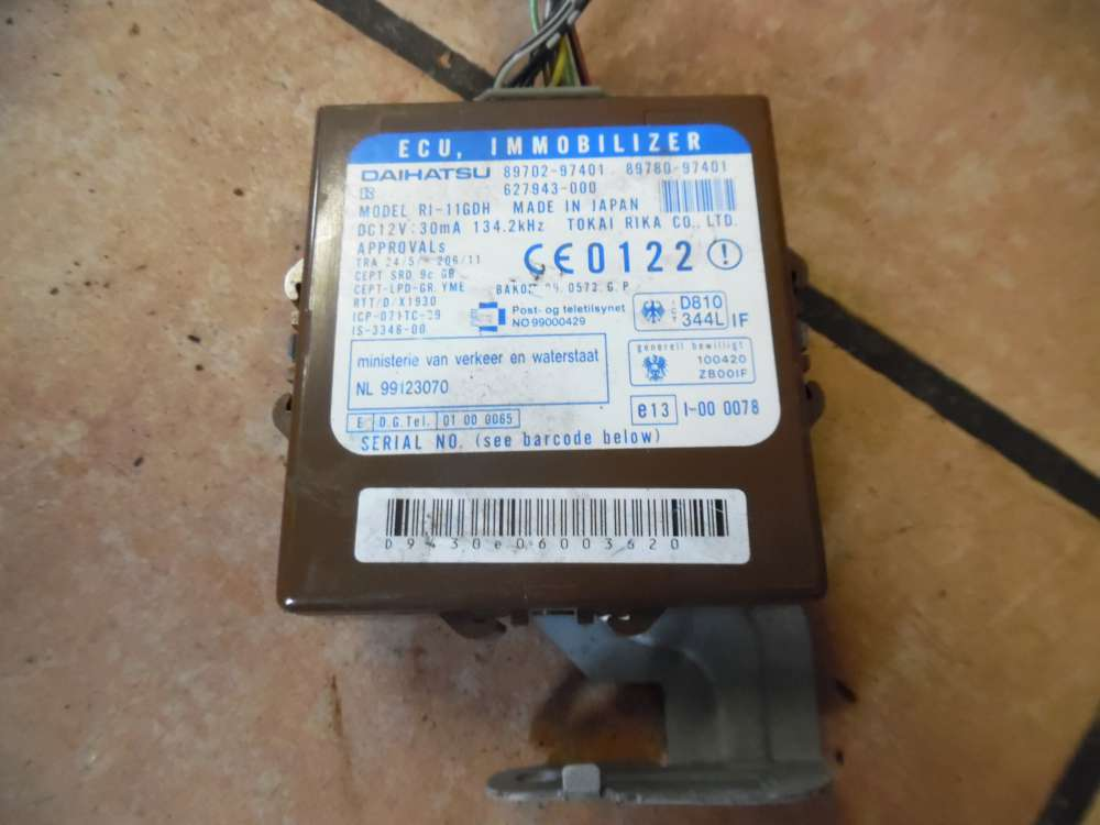 Daihatsu Cuore VI Steuergerät Wegfahrsperrensteuergerät 89780-97401