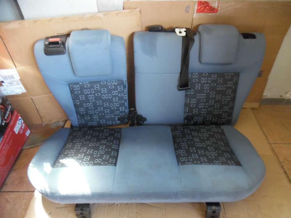 Ford Fiesta V Rücksitzlehne Sitze Stoff Blau