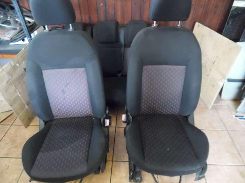Ford Fiesta V Sitze Innenausstattung Komplett Stoff Schwarz