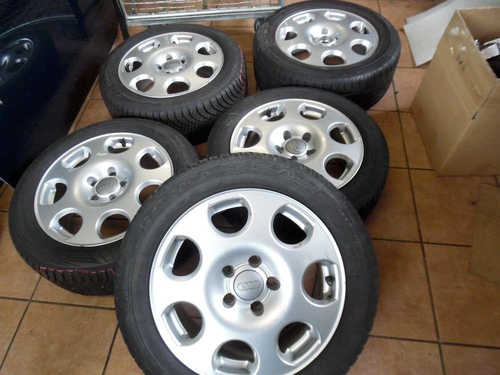 5x Alufelge mit Reifen 2x Ganzjahresreifen / 2x Winter / 1x Sommer Goodyear für Audi A4  205/55R16 91V -- 215 /55R 16 93Y 8E0601025F   7Jx16H2   ET 42