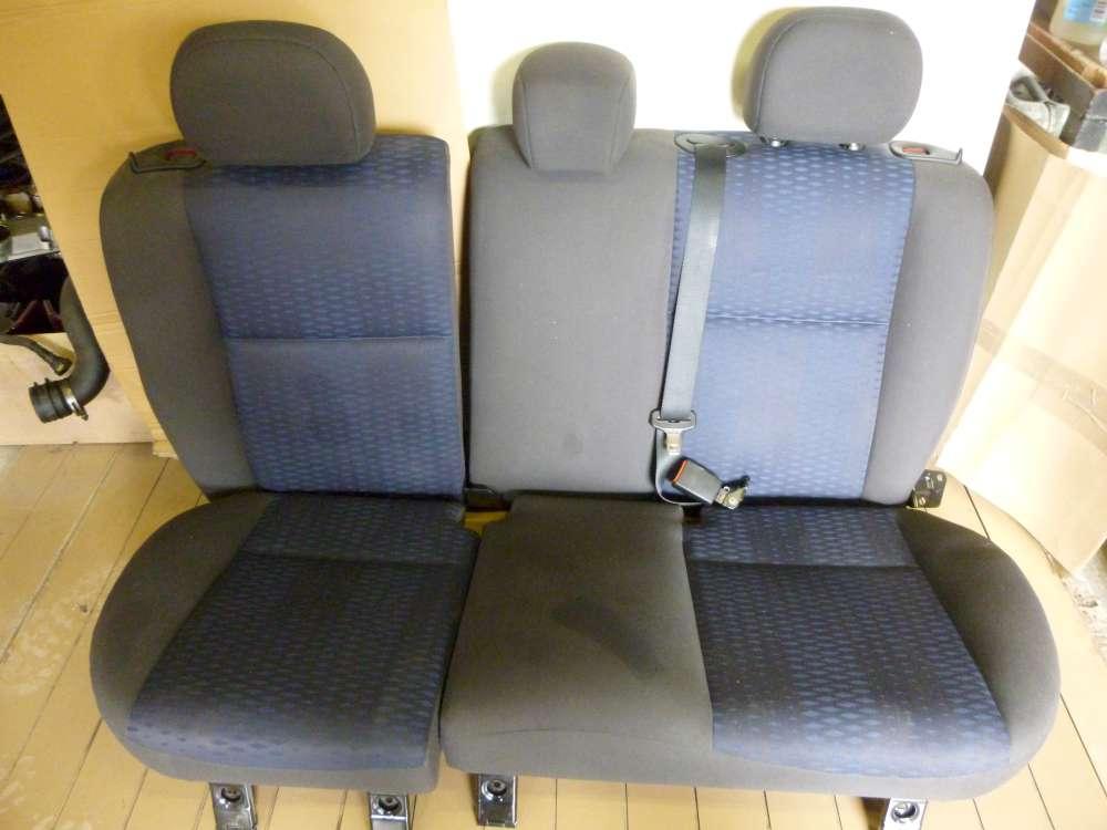 Ford Focus Rücksitzbank Sitzbank Sitze hinten grau und dunkel Blau