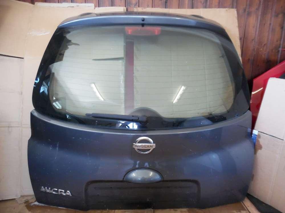 Nissan Micra K12 Heckklappe Kofferraumklappe grau Farbcode : KY5G