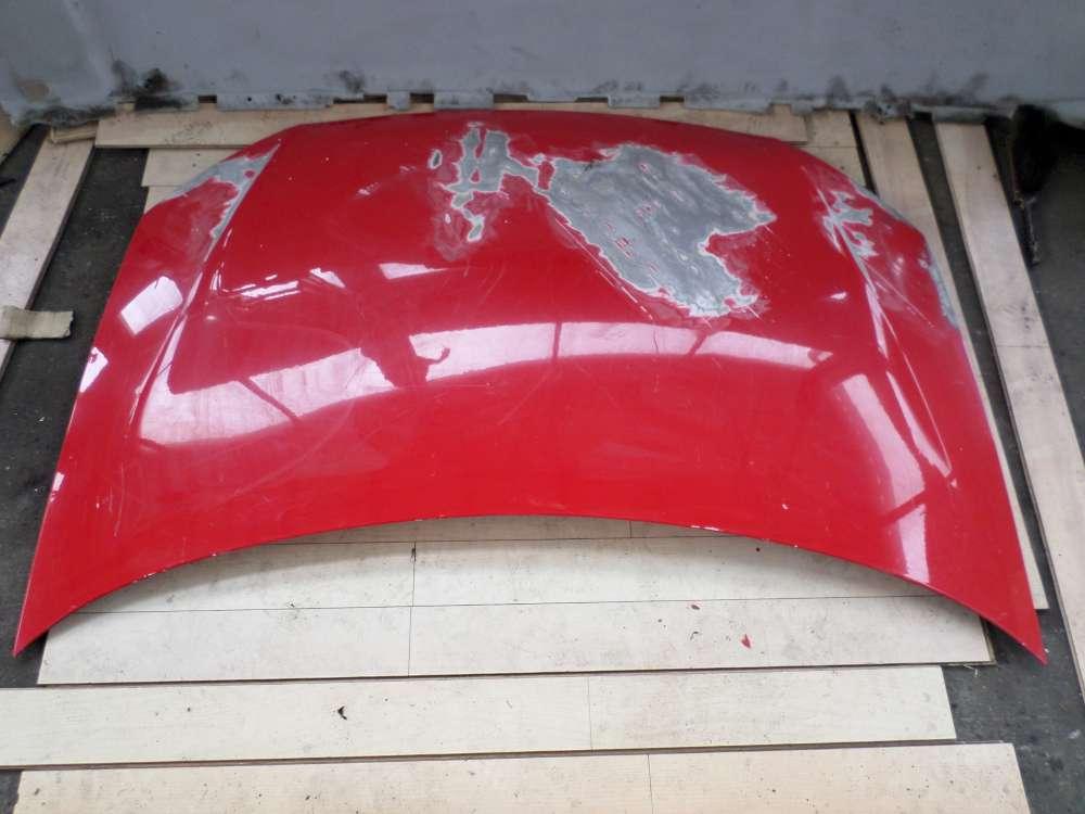 VW Polo 9N Bj 2007 Motorhaube Farbe : Rot .