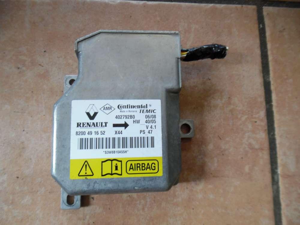 Renault Twingo Airbag Steuergerät 8200491652