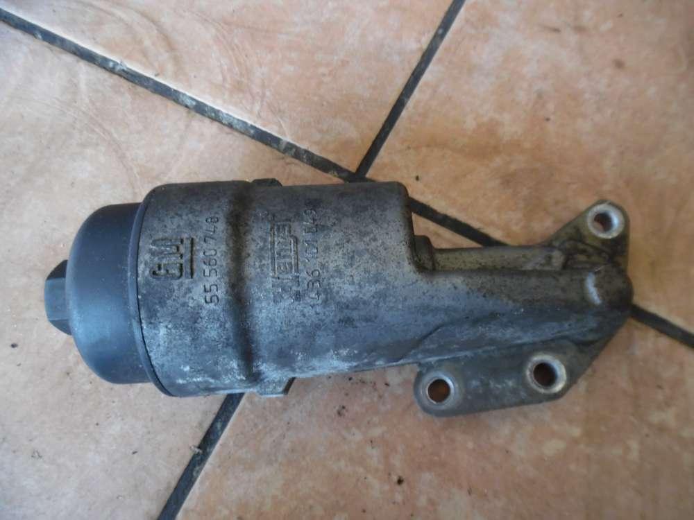 Opel Corsa C Ölfilterbock Ölfiltergehäuse 55560748