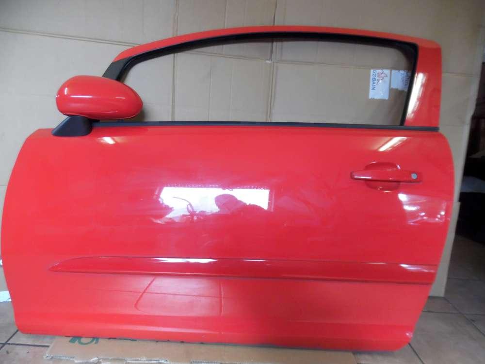 Opel Corsa D 3-Türer Tür Vorne Links Rot Farbcode : Z547