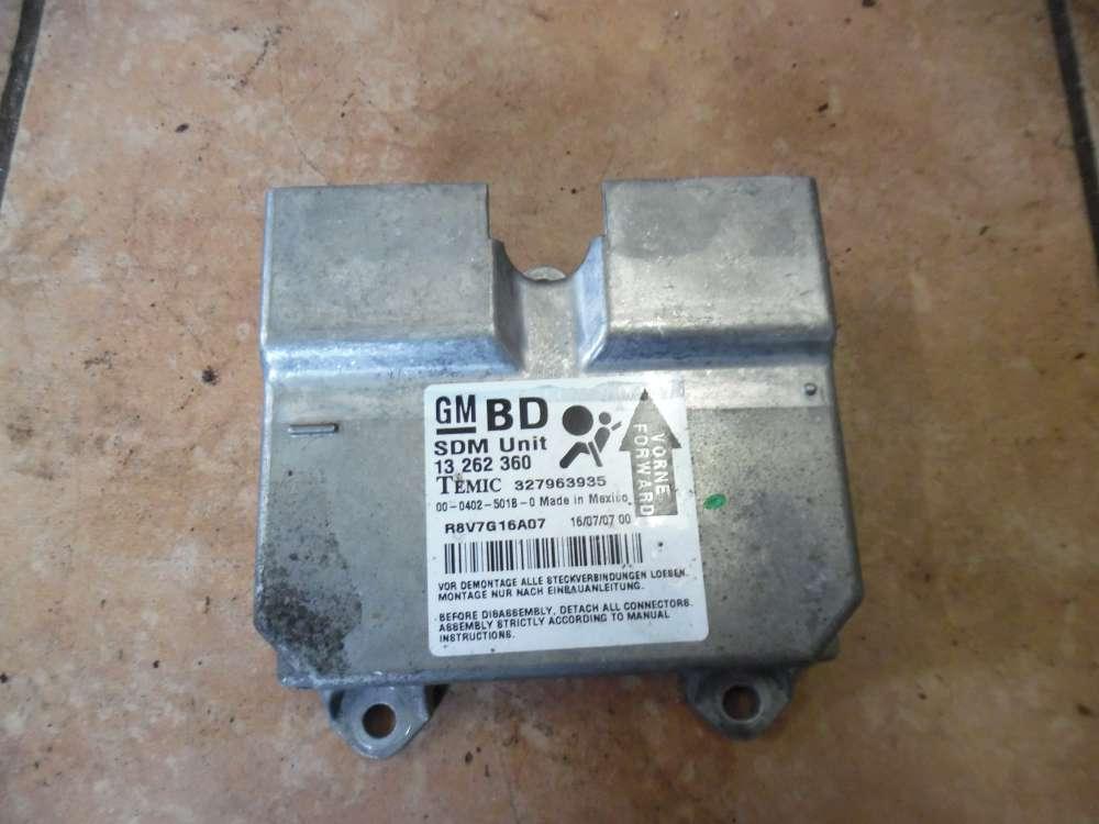 Opel Corsa D Airbagsteuergerät Steuergerät 13262360 327963935