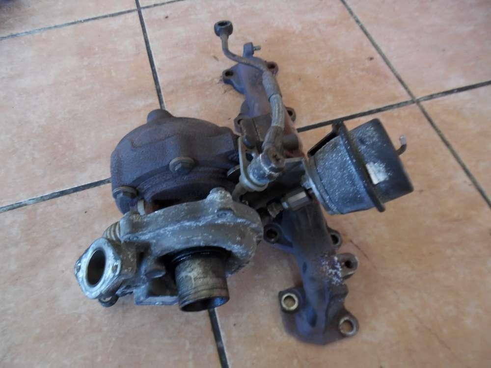 Fiat Punto 199 Turbolader Turbo Abgaskrümmer 55198317 73501340