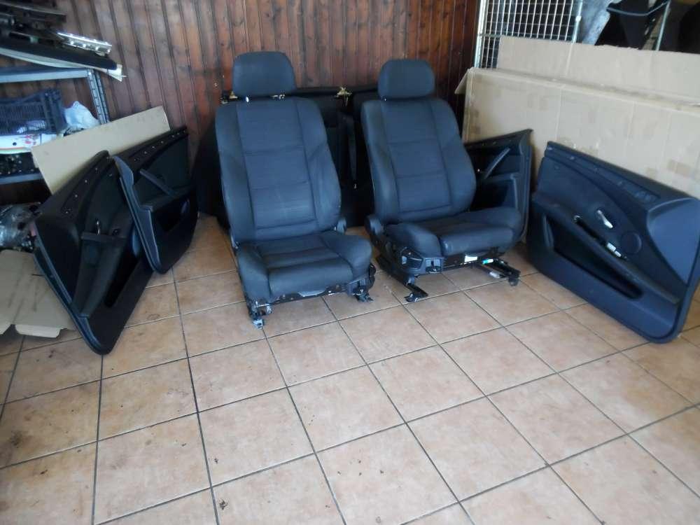 BMW 5er E60 E61 Kombi Sitze Komplett Innenausstattung schwarz Stoff