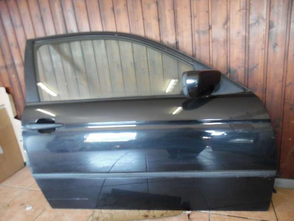 BMW 3er E46 316ti Compact Tür Vorne Rechts schwarz Farbcod : 475/9