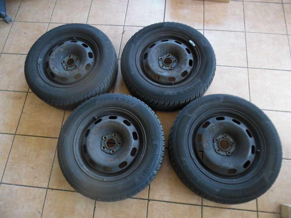 4x Stahlfelge mit Reifen Winter Continental VW Golf 4 SRD 152503 6Jx15H2 ET38  195/65 R15 91T