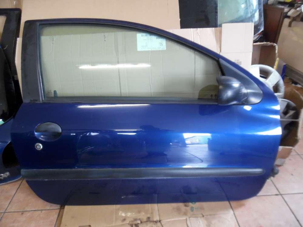 Peugeot 206 3-Türer Tür Vorne Rechts blau Farbcod: EGE