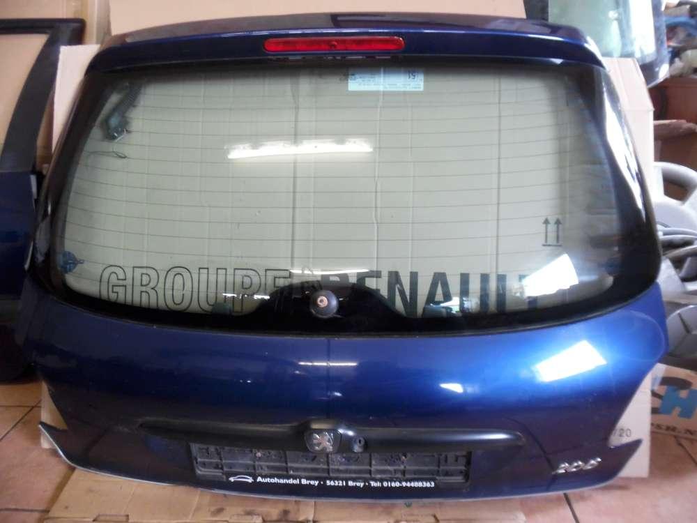 Peugeot 206 3-Türer Heckklappe blau Farbcod: EGE