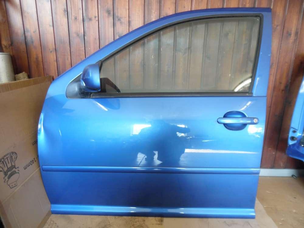 VW Golf IV 1J Tür Vorne Links Blau Farbcod : LW5Y