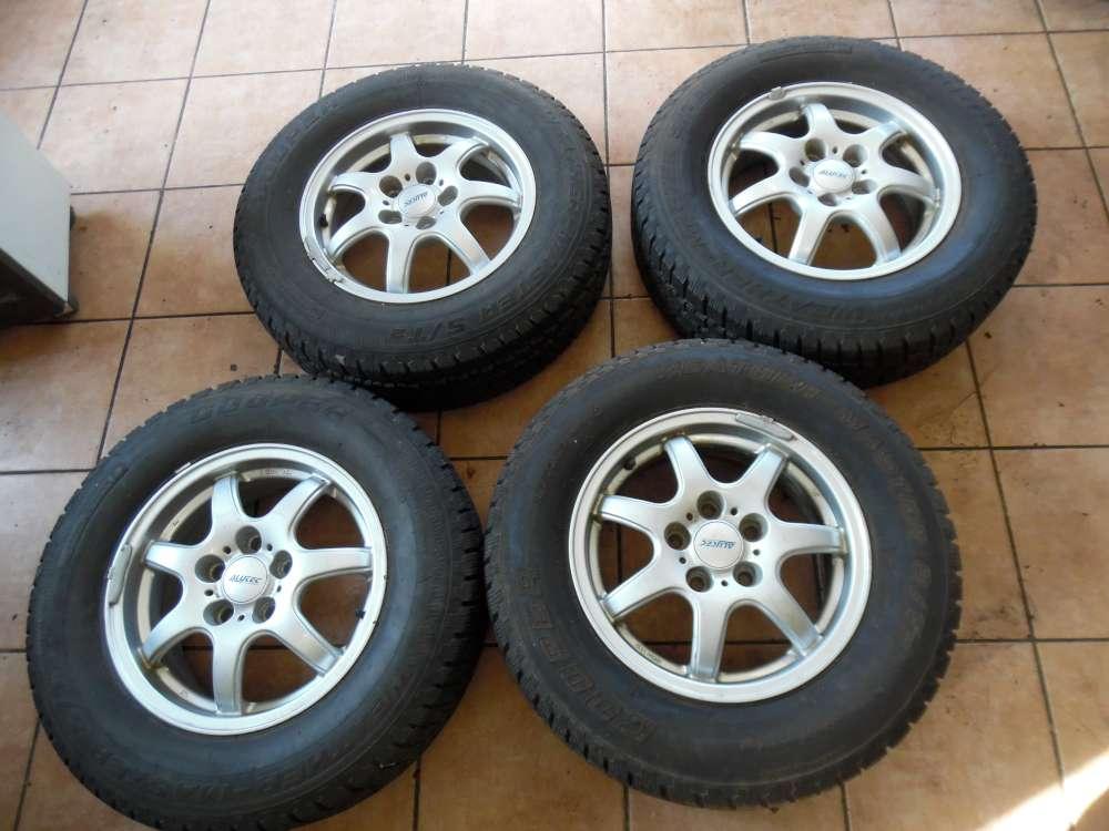 4x Alufelgen mit Reifen Winter  215/70 R15 98S  6Jx15   KBA-46222  ET 45