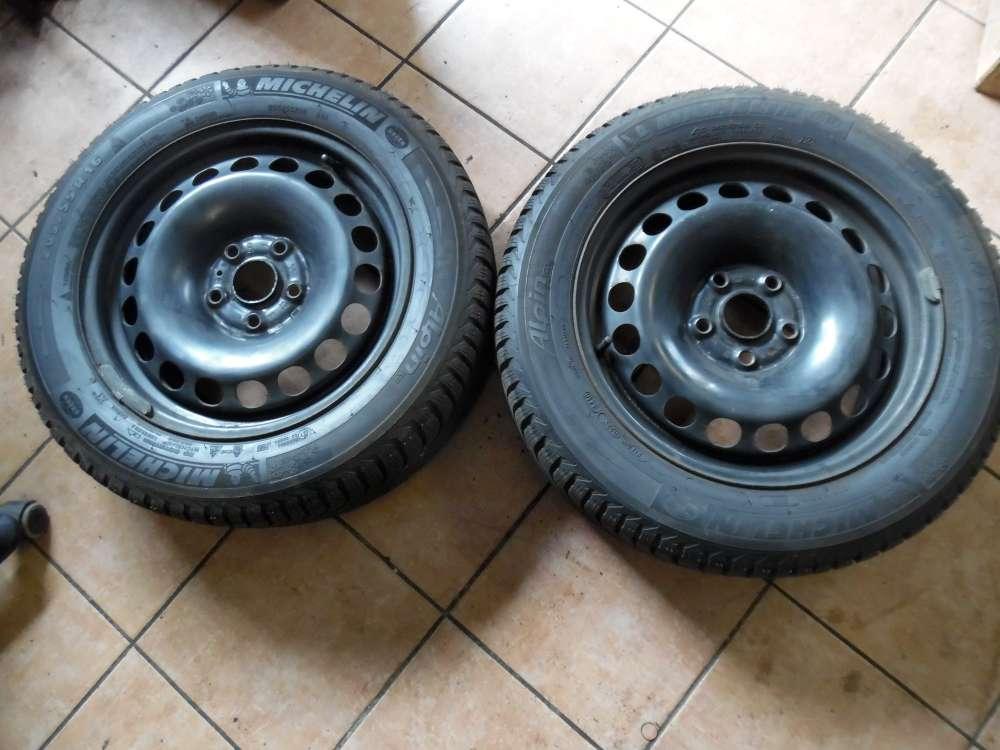 2x Stahlfelge mit Winterreifen Für VW Passat 3C 6,5Jx16H2 ET42 3C0601027 205/55 R16 91H M+S Michelin