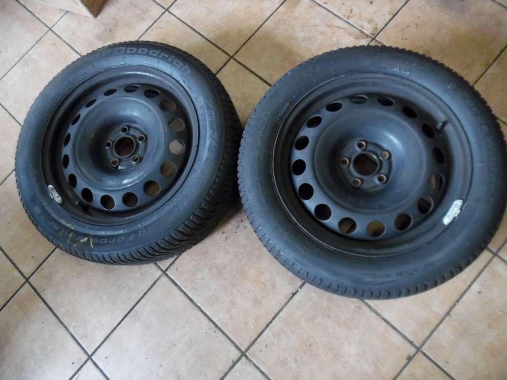 2x Stahlfelge mit Winterreifen Für VW Audi Seat Skoda 6,5Jx16H2 ET42 1J0601027 205/55 R16 94H  BFgoodrich