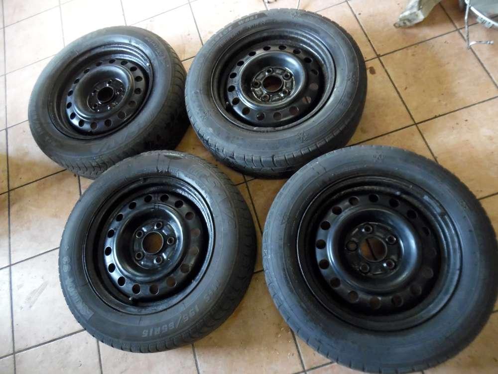 4X Stahlfelge mit 2X Winterreifen nur Nissan Almera Tino 195/65R15 91T  2151060  6Jx15CH  ET40