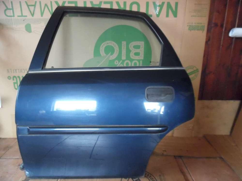 Opel Vectra B Limousine Tür Hinten Links dunkelblau Farbcode : Z20H