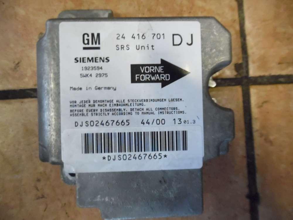 Opel Vectra B Airbagsteuergerät Steuergerät 24416701DJ