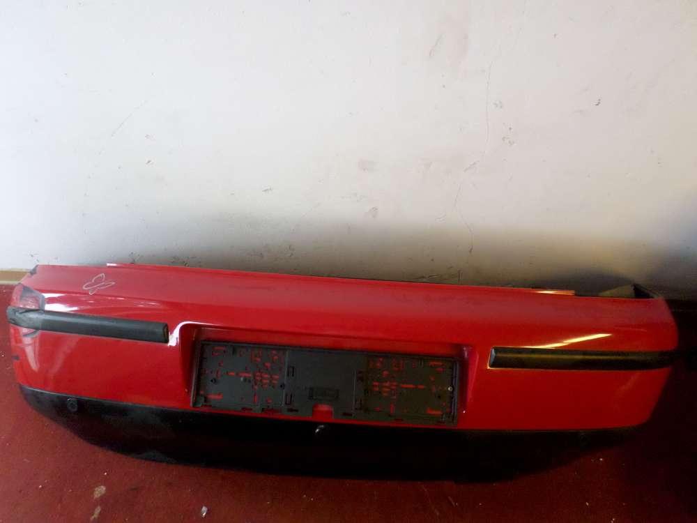 Seat Leon Bj.01 Stoßstange Heckschürze farbe Rot / LP3G 1M6807378B mit Sensor
