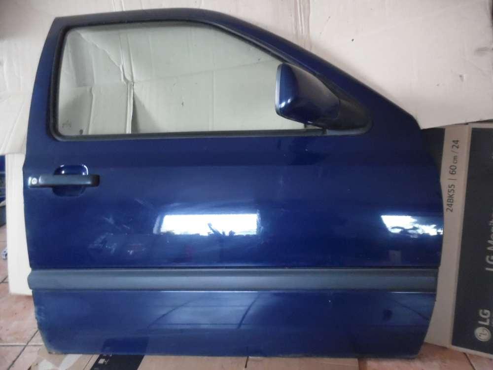 VW Golf III Tür Vorne Rechts dunkelblau : LA5E