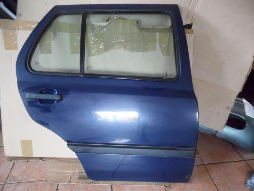 VW Golf III Tür Hinten Rechts dunkelblau : LA5E