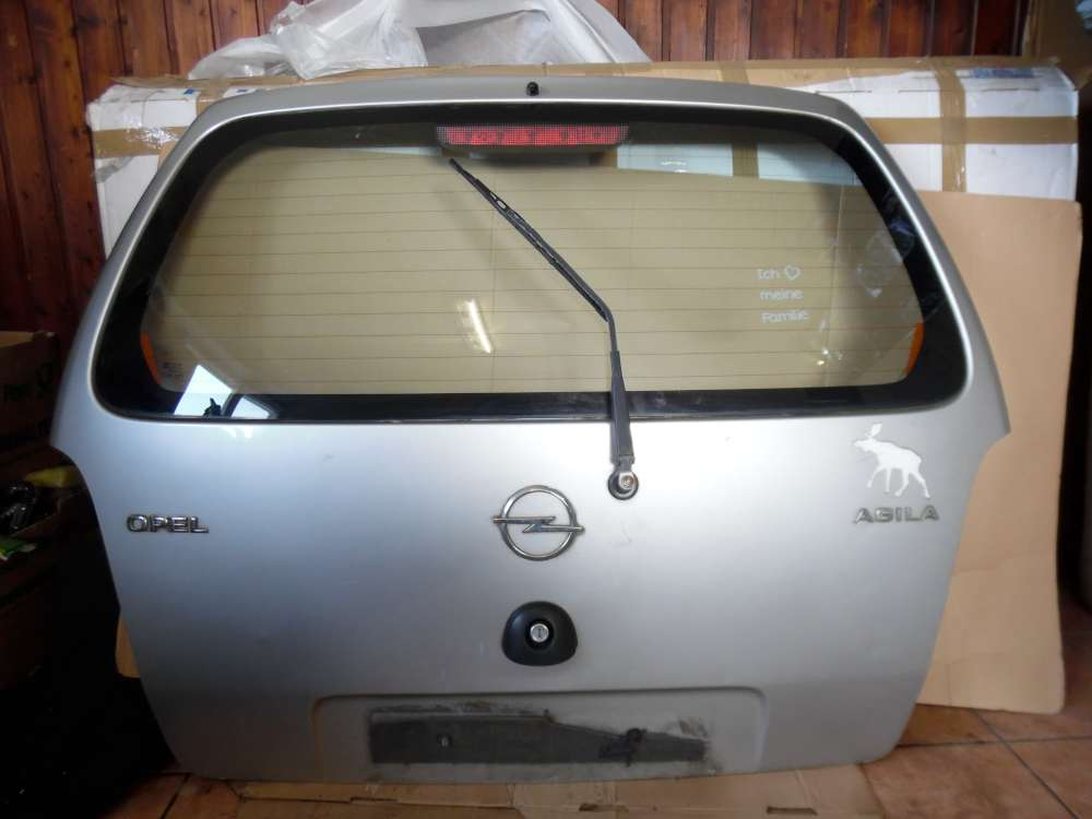 Opel Agila A Heckklappe Heckdeckel Silber Farbcode : Z147