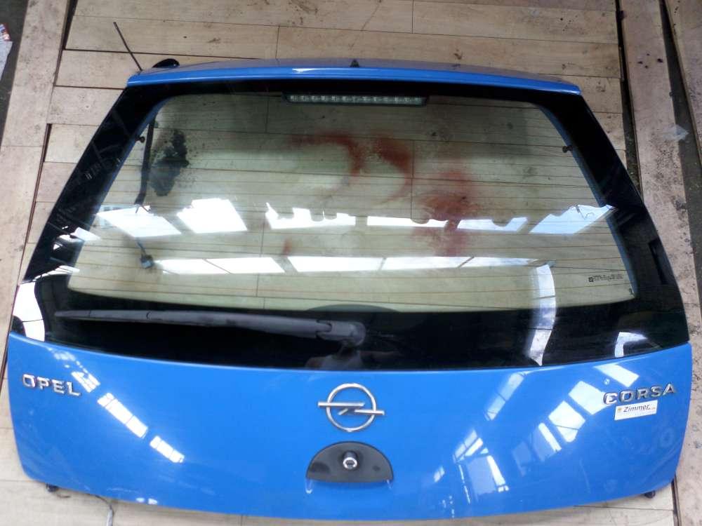 Opel Corsa C F08 F68 Bj 2001 3 Türen Kofferraumdeckel Heckklappe Blau Farbcode: Z20A