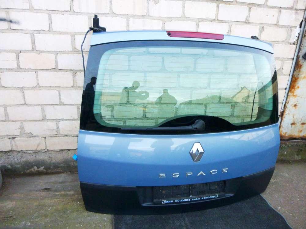 Renault Espace IV Heckklappe Kofferraumklappe Farbecode TED47 Hellblau