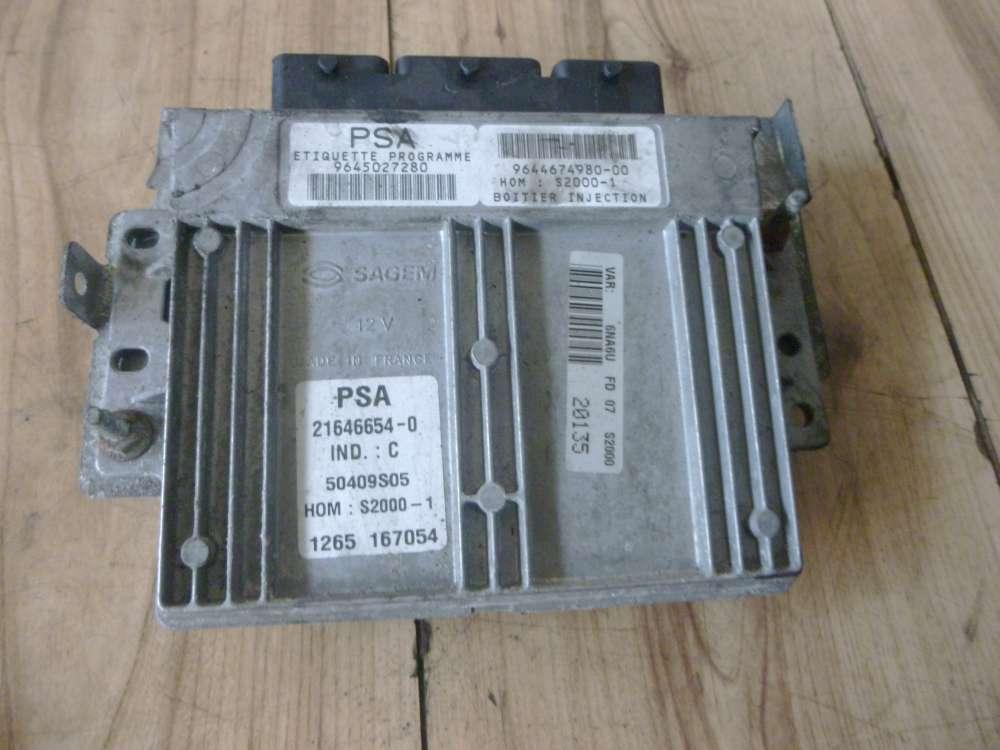 Citroen Xsara Picasso Bj:2001 Steuergerät Motor 9645027280