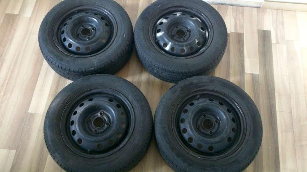 Opel , MG 4 x Felgen Sommerreifen 5,1/2Jx14H2  ET 49 mit Reifen 195/60 R14 86H