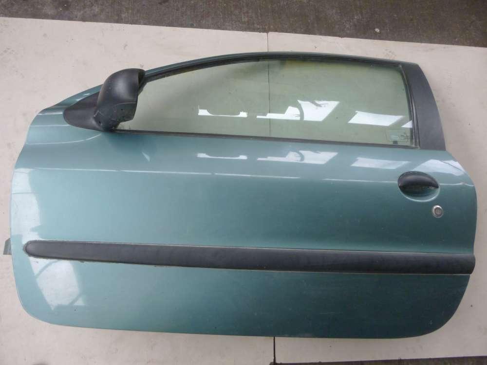 Peugeot 206 Bj 1998 Tür Vorne Links hellgrün Grün