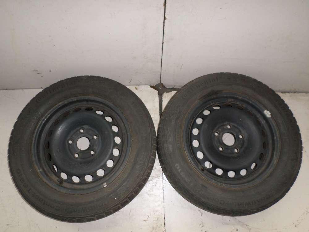 2x Winterreifen Stahlfelgen VW , Audi , Seat , Skoda 195/65R15 91T  6Jx15H2 ET47