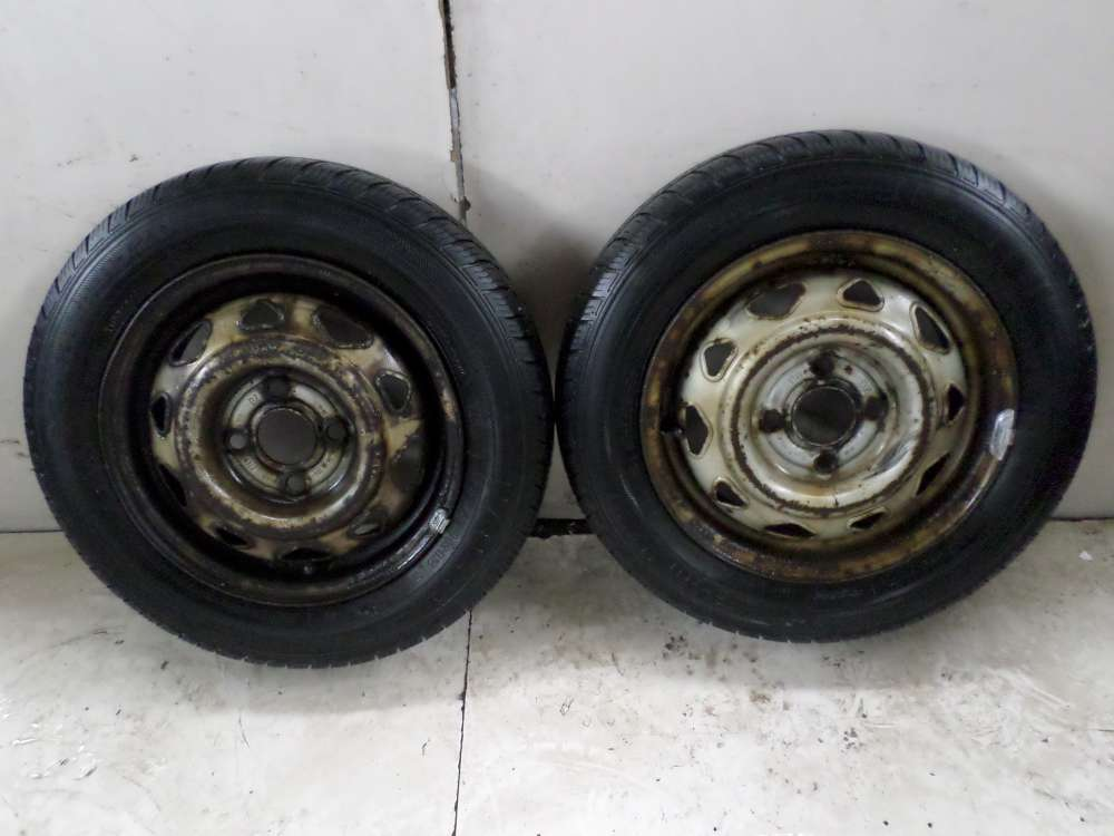 2x Allwetterreifen  Stahlfelgen Opel Corsa 155/70R13 75T  4,5x13 ET49