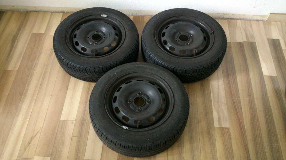 3 x Stahlfelgne Sommerreifen Ford Focus 175/65 R14 82T eB5.1/2Jx14 ET 47 LK 4x100