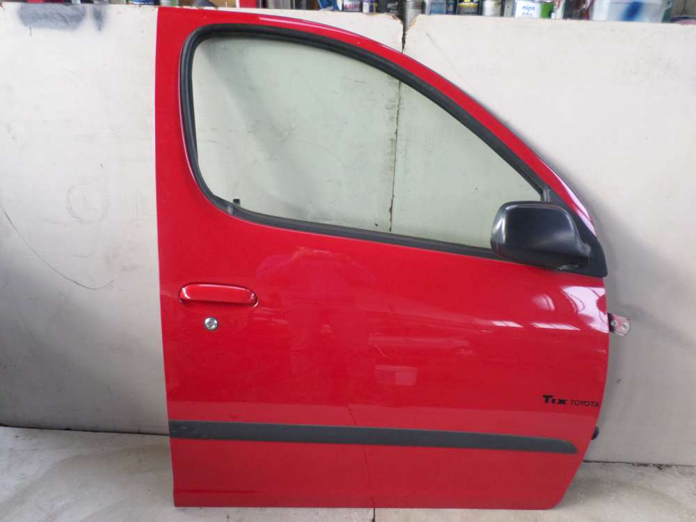 Toyota Yaris Verso Bj 2001 Tür Beifahrertür Rechts Vorne Rot Farbe: 3P0