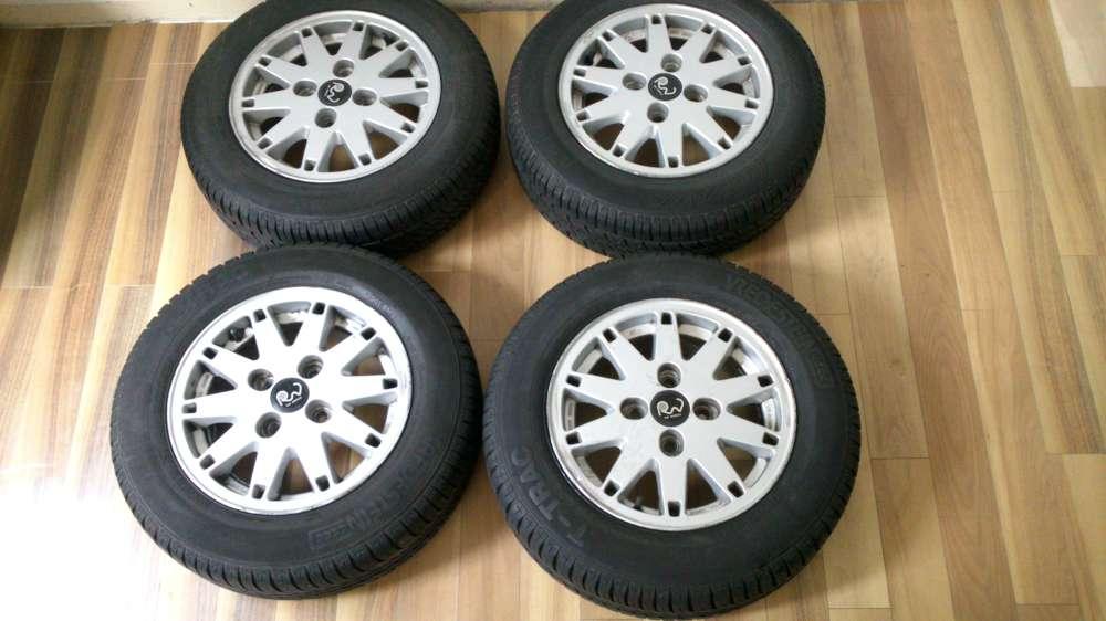 4 x Alufelgen Sommerreifen  RW Wheels 5.1/2 Jx13 H2 ET 38 Reifen 165/70 R13 79T