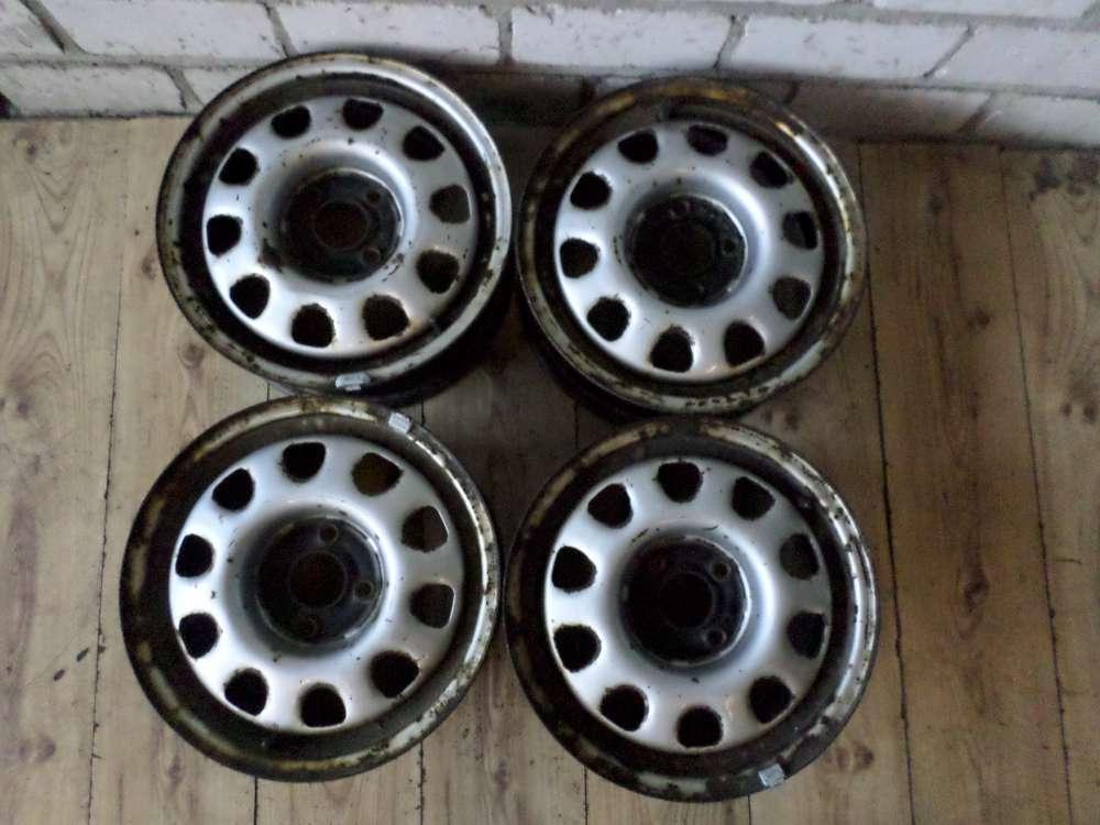 VW Golf 3 Stahlfelgen 4 Stück 6Jx14H2 ET 45 Felgen