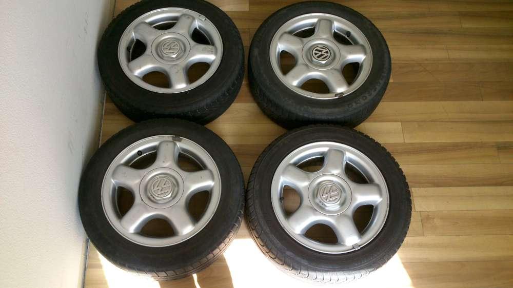 4 x Komplett Alufelgen + Reifen Original VW Polo 6N 185/55 R14 80H,6Jx14H2 ET 43