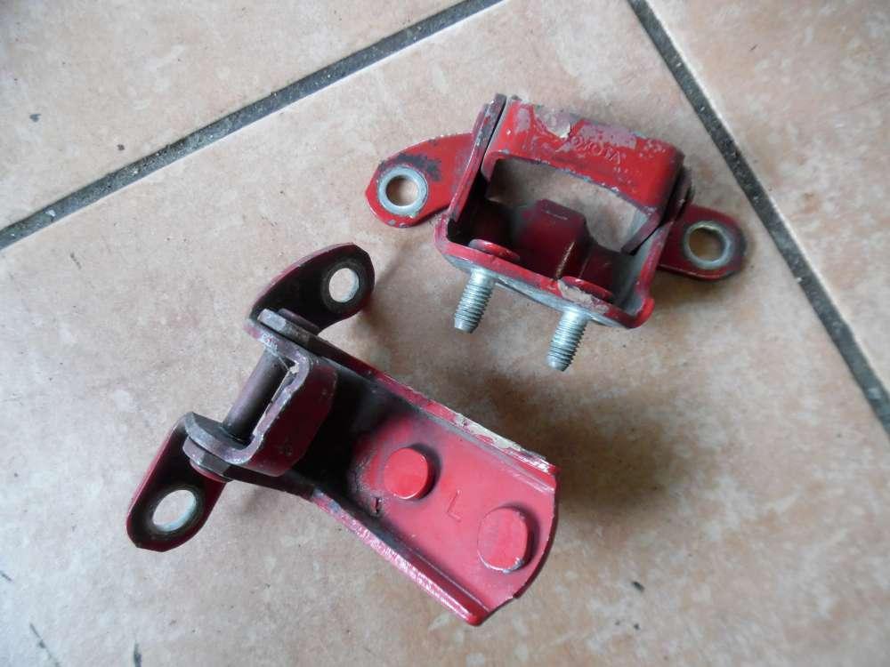 Toyota Yaris Verso Türscharnier Scharnier Hinten Links Rot